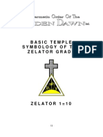 GOLDEN DAWN Basic Temple Symbology of the Zelator Grade