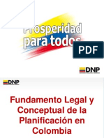Fundamento Legal de La Planificacion