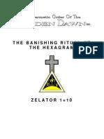 GOLDEN DAWN 1=10 The Banishing Ritual of Hexagram