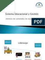 Sistema Educacional y Gestión Síntesis