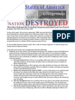 Citi Saved Nation Destroyed  Ref