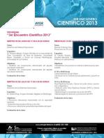 Programa Encuentro Científico 2013 - Temuco Umayor