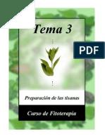 Fitoterapia 3 - Preparación tisanas