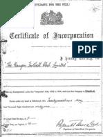Rangers FC Memorandum and Articles of Association