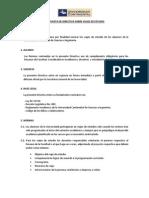 001 Directiva Sobre Viajes de Estudio
