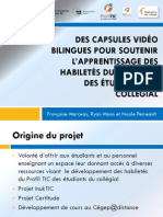 2013-06 Diaporama Lancement Capsules Vidéos