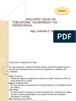 Pobreza, Exclusión y las poblaciones en Riesgo
