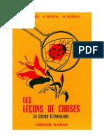 Leçons de choses CE1-CE2 Godier-Moreau 1957