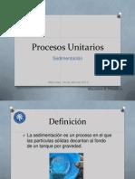 Procesos Unitarios Sedimentacion