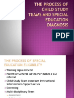 The Process of Child Study Teams and Special