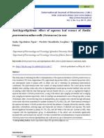 Anti-hyperlipidemic effect of aqueous leaf extract of Emilia praetermissa milne-redh (Asteraceae) in rats