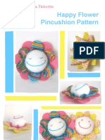 Happy Flower Pincushion Pattern 2