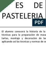 Bases de Pasteleria