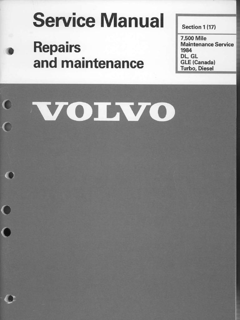 free workshop manual volvo 740
