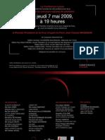 Carton d'Invitation 2009