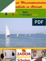 Spanisch Und Wassersportarten Fur Jugendliche in Alicante 2009