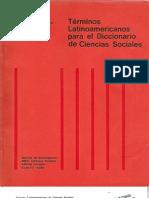 CLACSO - Términos latinoamericanos para el diccionario de cs. sociales