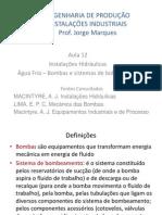 2012-2 Instala_es Industriais - Aula 12 - Bombas e Sistemas de Bombeamento