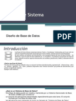 Deseño de base de datos  D1.
