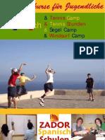 Sommercamps für Jugendliche in Spanien Alicante 2009