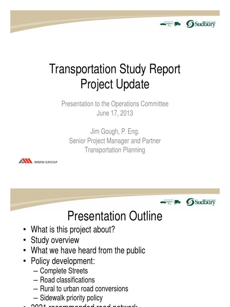 Transportation Presentation | Transport | Sidewalk