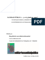 Dossier Sanidad Yatiquientecura