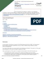ARCHIVED - SAP HR System - Canadian International Development Agency (CIDA)