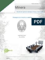 Politica Minera Trabajos