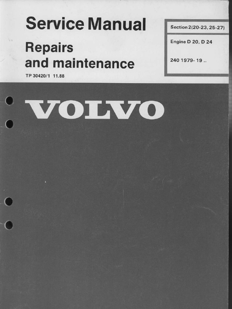 VOLVO 240 Engines d20 d24 repairs part 1 | Engines | Mechanical Engineering