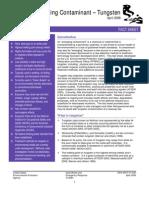 EPA 505-F-07-005 Emerging Contaminant – Tungsten