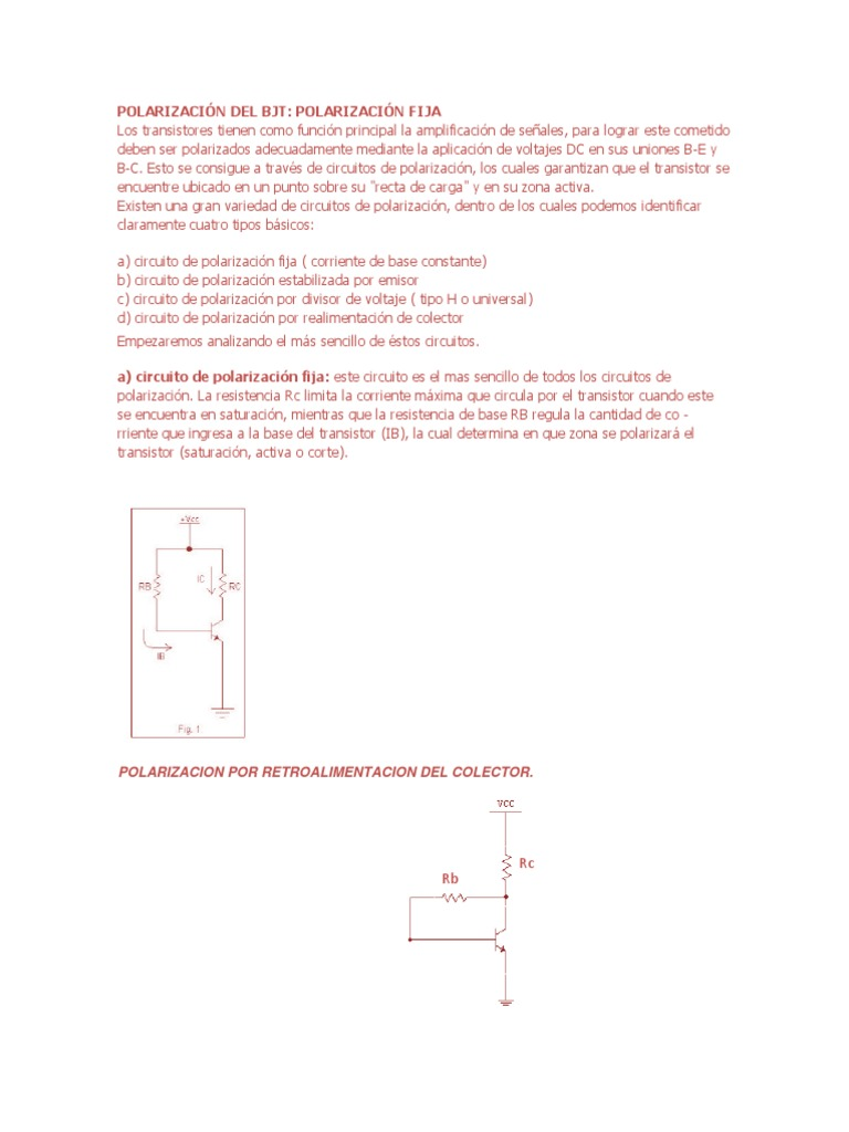Circuito Transistor : PolarizaciÓn del bjt.docx