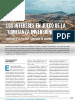 Pardo Montenegro, Liliana (2012) Los interes en juego de la confianza inversionista. Análisis de la política económicia de Colombia en el siglo XXI. (www.fundamentar.com)