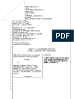 Complaint for injunctive and declaratory relief and petition for writ of habeas corpus by Gerardo Gonzalez vs ICE