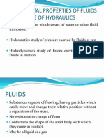 HYDRAULICS Fundamental Properties of Fluids