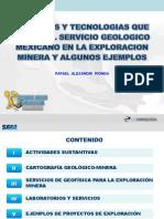Servicios y Tecnologias Que Aplica El Servicio Geologico Mexicano