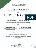 Instituciones de Derecho Civil - Tomo i - PDF
