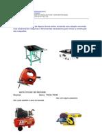 05 relação compacta de maquinas para iniciar a construção de maquetes
