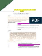 ETICA Evaluación Nacional 2013