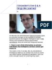 Edward Snowden's live Q & A Eight Things We Learned