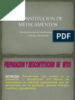 Reconstitucion de Medicamentos