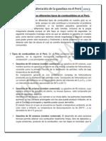 Adulteración de los diferentes tipos de combustibles en el Perú
