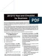 2013 Business Year End Checklist