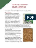 Venta de Semillas de Ginseng Americano y Equinacea Junio 2013