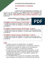 Cronograma de Entrega Julio Agosto 2013