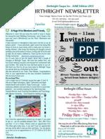 JUNE 2013 Newsletter Birthright Taupo Inc