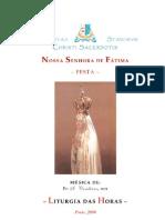 Livro de Horas - Nossa Senhora de Fátima