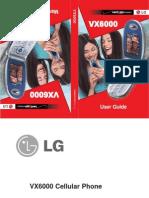 LG VX 6000 Manual