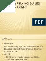 5. Sao Luu Va Phuc Hoi Du Lieu Trong SQL Server_01012010