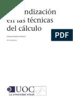 Profundización en las Técnicas del Cálculo. Martín, Sebastià