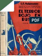 S P Melgounov - El Terror Rojo en Rusia Tomo 1